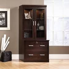 Sauder Bookcase Furniture Sauder Bookcase With Doors In Grey And Windows Glass