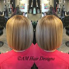 dimensional copper blonde sleek bob medium thin fine hair am hair