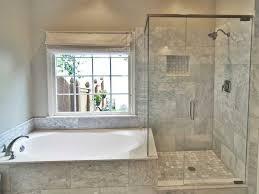 contemporary master bathroom with drop in bathtub master