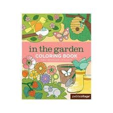 petit collage garden coloring book u2013 mapamundi kids