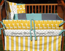 giraffe crib bedding etsy