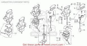 honda cb750k7 four england carburetor component parts