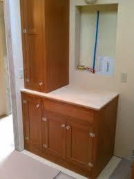 custom made douglas fir bath cabinets by artisan woodcraft inc