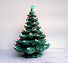 ceramic christmas tree with lights to paint
