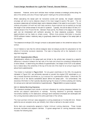 Resume Paper And Envelopes Chapter 3 Light Rail Transit Track Geometry Track Design