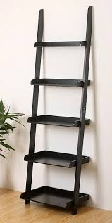 wall mounted cat stairs amazon com ehemco 5 tier leaning wall book shelf in black finish