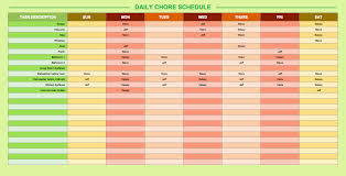 Study Schedule Template Excel Daily Timetable Template
