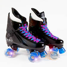roller skates with flashing lights flashing ventro pro turbo quad roller skate bauer style blue