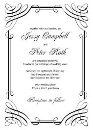 Wedding Invitation Sample Printable Wedding Invitation Templates Theruntime Com