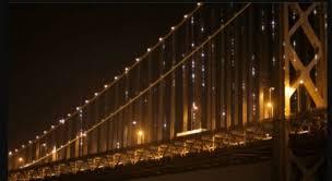 Bay Bridge Lights San Francisco Bay Bridge To Be Adorned With 25 000 Led Lights This