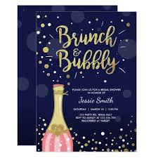 chagne brunch bridal shower invitations brunch bubbly gifts on zazzle
