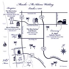 Naples Florida Map Formal Wedding Maps U2014 Custom Map Design By Snappymap