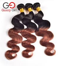 Two Tone Ombre Hair Extensions by Newness Ombre Hair Extensions Brazilian Body Wave Two Tone Color