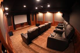amazing home theater idea with red walls techethe com