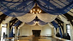 Royal Home Decor by White And Royal Blue Ceiling Drape At Columbia Manor By Deckci