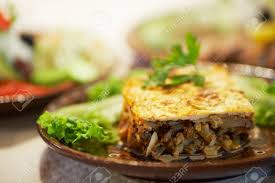 bulgarische küche moussaka traditionelle bulgarische küche lizenzfreie fotos