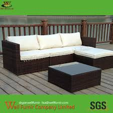 Outdoor Furniture Sectional Sofa Pe Wicker Rattan Sofa Chair Outdoor Sectional Sofa Set Rattan