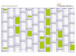 Kalender 2018 Hamburg Brückentage Ferien Hamburg 2016 Ferienkalender Zum Ausdrucken