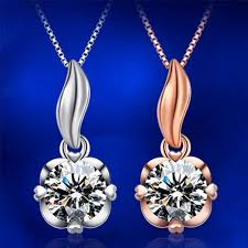 gold rose pattern 8319 new women necklace exquisite light jewelry rose gold elegant