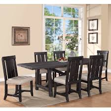 Table With 6 Chairs Yosemite 7 Piece Rectangular Set Rectangular Table With 6 Wood