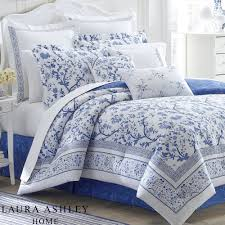 Poppy Bedding Charlotte Blue And White Floral Comforter Bedding By Laura Ashley