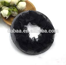 bun scrunchie black hair bun net thin fabric crochet mesh snood cover ballet