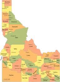 map of idaho cities idaho county map