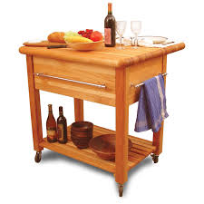 crosley marston butcher block natural kitchen cart hayneedle