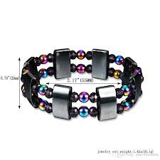 magnetic stone bracelet images High quality double black stone colorful bracelet magnetic beaded jpg