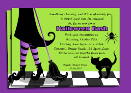 Halloween Poems About Witches Halloween Invitation Printable Or Printed With Free Shipping