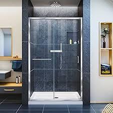 dreamline duet 44 48 in width frameless bypass sliding shower
