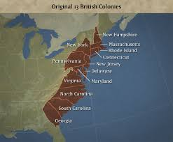 13 Original Colonies Map Blank by The 13 Colonies Thinglink