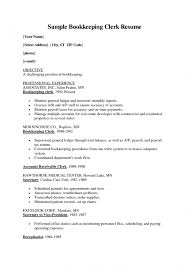 Bookkeeper Description For Resume Sample Bookkeeper Resume Examples Of Resumes Bookkeeper Resume