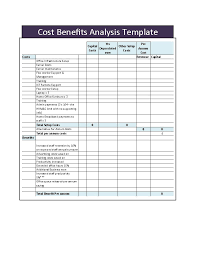 Cost Benefit Analysis Template Excel Cost Analysis Template Even Analysis 1 Free Even