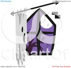 creepy clipart clipart of a creepy window with a full moon royalty free vector