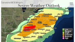East Coast States Map by Severe Weather Likely Today For Multiple States On The East Coast