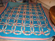 wedding ring quilt for sale wedding ring quilts for sale wedding ring multicolor