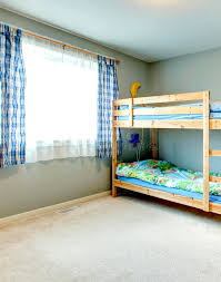two floor bed cozy room with a two level bed stock photo image of idea