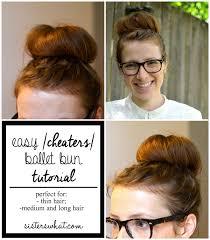 hair buns for hair easy cheater ballet bun tutorial for thin hair what