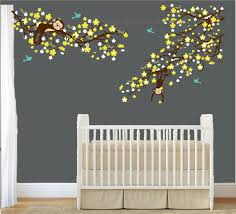 cherry blossom monkey wall decals for nursery nursery wall decal