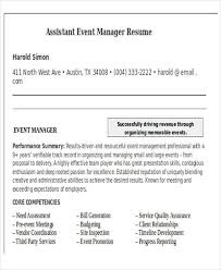 Event Resume Template Events Manager Resume Template Billybullock Us