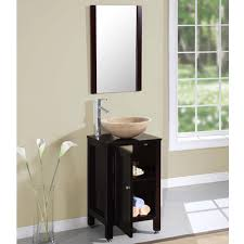 silkroad 19 inch single vessel sink bathroom vanity