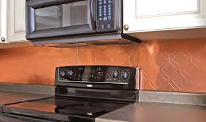 Kitchen Copper Backsplash Decor Tips Induction Cooktop And Microweave With Copper