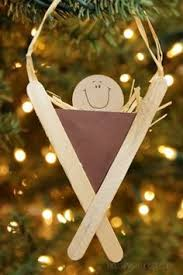 precious nativity popsicle stick ornament it was made