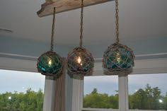glass fishing float pendant light vintage glass fishing float light fixture chandelier with 7 floats