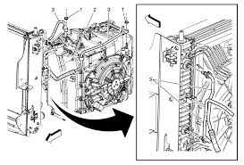 repair instructions on vehicle fluid cooler inlet hose