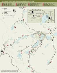 Banff National Park Map Hiking Many Glacier Glacier National Park U S National Park