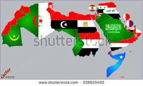 arab map arab world map flags stock vector 226620493