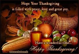 your thanksgiving is filled with peace and great