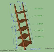 Wood Shelf Plans by Ladder Shelf Measurements Almost Exactly Like The Ones I Love